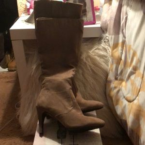 Forever 21 faux suede new knee high boots.